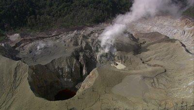 Sulphur Spring smoking near crater