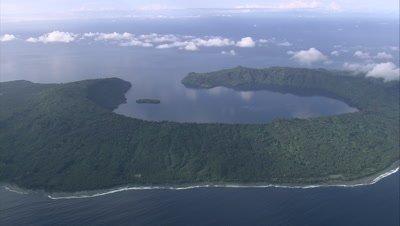 View of island below