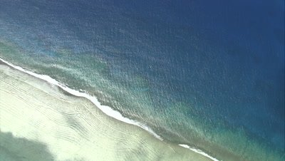 flying over coast at high angle