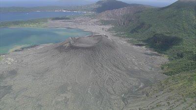 Circling around the volcano