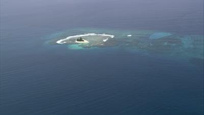 circling around small island