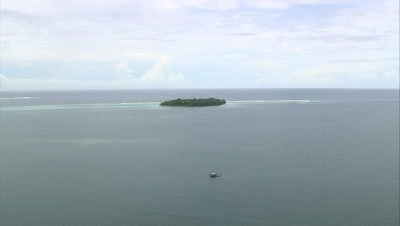 Passing by small islands off the coast of PNG