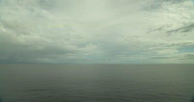 Tilt down from horizon to ocean