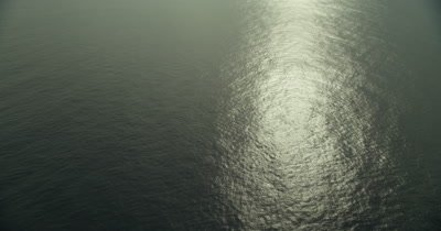 Sun's reflection off surface of the ocean
