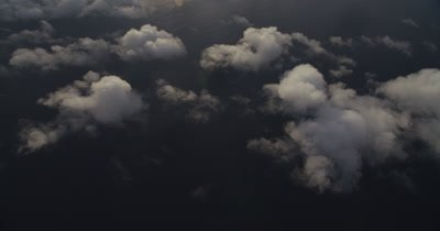 Travelling clouds over the ocean