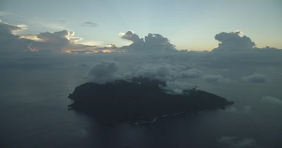 Extreme wide aerial of Cocos Island