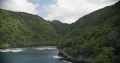 Approaching coast, waterfall in BG