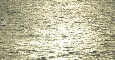 golden reflection of sun on ocean