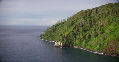Circling around island coast