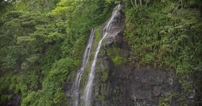 tracking waterfall from the top down
