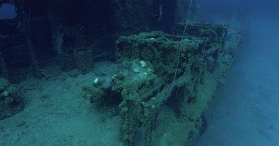 Circling edge of wreck. USS Lamson