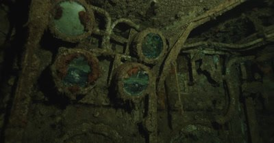 interior of USS Saratoga ship wreck
