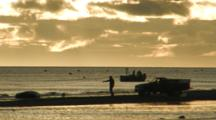 Bristol Bay Salmon Fishery - Sunset At Setnet Site