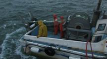 Bristol Bay Salmon Fishery - Fishermen Wave From Boat, Fly By