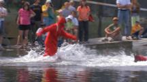 People Swim In Dry Suits, Kodiak Crab Festival