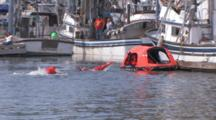 People Swim In Dry Suits To Lifeboat, Kodiak Crab Festival