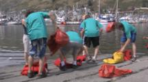 Kodiak Crab Festival, Boys Race To Put On Dry Suits