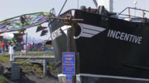 Carnival Ride Behind Fishing Boat During Kodiak Crab Festival