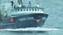 Trawler on it's way back to harbor, Dutch Harbor Alaska