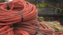 Pile Of Ropes, Line, Gear At Dock, Alaska Crab Fisheries - Dutch Harbor, Alaska, Unalaska