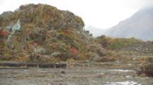 Huge Pile Of Gear, Nets, Debris, Alaska Crab Fisheries - Dutch Harbor Unalaska Alaska- Mountain Of Crab Line Salvaged From Crab Pots, Trash