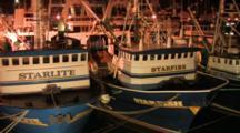Trawlers Docked In Harbor At Night, Alaska Trawl Fisheries - Dutch Harbor, Alaska, Unalaska