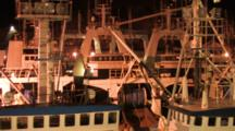 Trawlers Docked In Harbor At Night, Alaska Trawl Fisheries - Dutch Harbor, Alaska, Unalaska