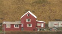 Red Building, House In Dutch Harbor Alaska