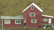 Red Building, House In Dutch Harbor Alaska