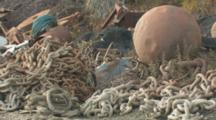 Dutch Harbor Alaska, Old Fishing Nets And Debris