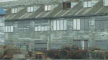 Dutch Harbor Alaska, Close Up Weathered Buildings