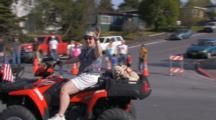 People On Atvs In Parade For Kodiak Crab Festival