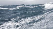 Crab Fishing Bering Sea - Heavy Weather And Big Waves From Deck Of Crab Boat