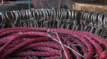 Buckets Hold Line And Hooks, Ready For Use In Longlining For Halibut And Black Cod Alaska