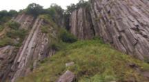 Beautiful Basalt Columns Coastal Cliffs Alaska Peninsula