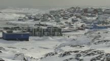 Village In Rugged Snowy Area