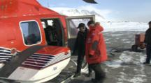 Passengers Board Helicopter