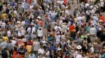 High Angle Shot Of Crowds At Churchhill Downs