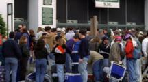 Spectators Stand In Line To Enter Churchhill Downs