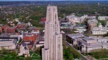 Aerial, Gothic Church, University Of Pittsburgh