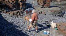 Man Paints Landscapes On Maine Shore