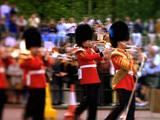 Guards March, Play Instruments At Buckingham Palace