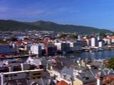 Norwegian City On Bay