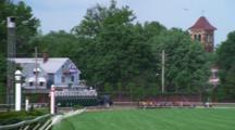 Horses Race Down The Track, Churchhill Downs, Kentucky Derby