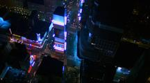 Night Aerial Over New York City Straight Down
