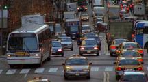 Nyc Street, Traffic, Cabs, Yac