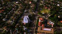 Aerial Suburban California (Pacific Palisades/Brentwood)