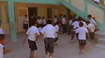 School Children Play Ball