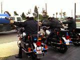 Motorcycle Police Officers With Radar Gun