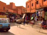 Time Lapse Busy Marketplace In Marrakesh